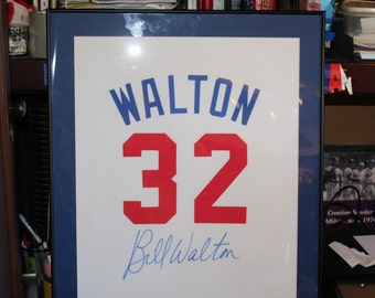 Bill Walton framed/limited edition signed banner