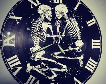 lovers of valdaro recycled vinyl record wall clock