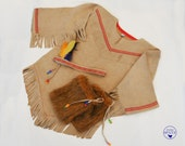 Girls Pocahontas Costume  Native American Indian Costume  Tribal Kids Outfit for Halloween Carnival or Dressup