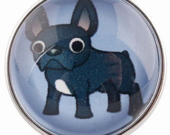 C0451  Boston Puppy Art Glass Print Chunk