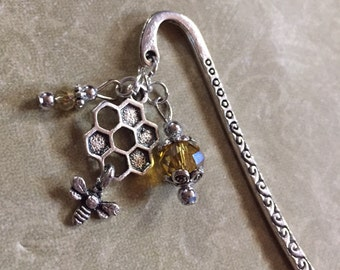 Honey Bee Bookmark — Great Gift! Sparkle Bumble Bee Hornet