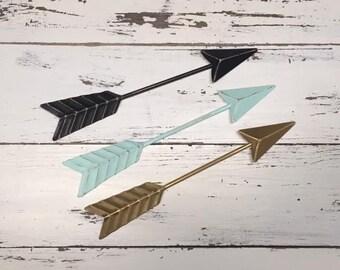 Arrow Wall Decor/Aqua/Arrow/Metal Arrow/Bohemian Decor/Arrow/SSLID0262/Arrows/Tribal/ Indian/ Southwest/Arrow Art/Trendy/Boho
