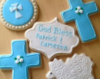Baptism/Christening Sugar Cookies