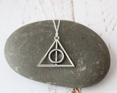 Deathly Hallows Necklace  Harry Potter Jewellery Wizard Pendant necklace