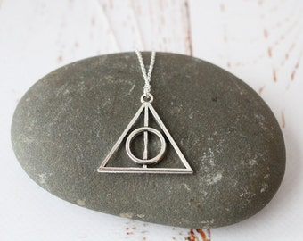 Deathly Hallows Necklace / Harry Potter Jewellery/ Wizard Pendant necklace