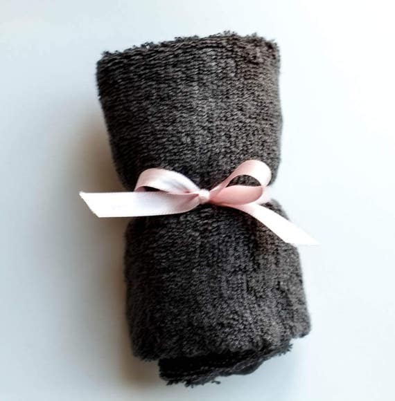"Charcoal Grey SUPER SOFT Bamboo Washcloth 14"" x 14"" 