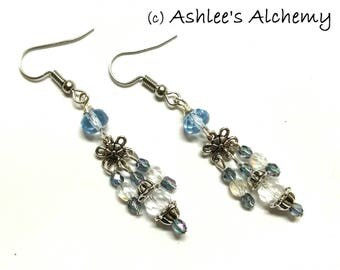 Sparkling Glass Dangle  Earrings