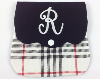 Monogram personalized purse pochette.