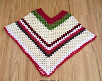 crochet ladies Mexican poncho, mexican poncho, crochet adult poncho, women's poncho, adult poncho, girls poncho, granny square poncho,