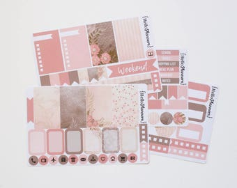 Weekly Planner Sticker Kit - Vintage Floral