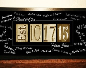 Wedding Guest Book Alternative, Wedding Guest Book Print, Guest Book Idea,