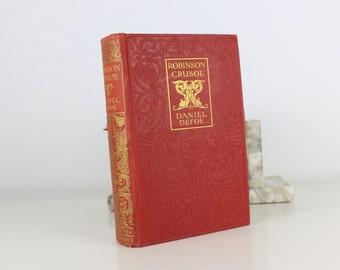 Antique Book Robinson Crusoe by Daniel Defoe. Published by Ward, Lock & Co Circa 1900