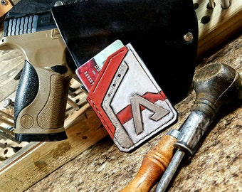 Custom Handmade Leather Card Wallets - Inspired by Titanfall - Front Pocket Wallet - Custom Wallet - Titanfall 2