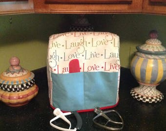 Ready To Ship.....Sturdy Kitchen Aid Mixer Dust Cover......Ready Made....With Large Pockets