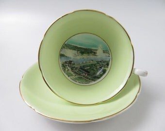Royal Grafton Fine Bone China Niagara Falls, Canada Cup and Saucer, Made in England