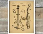 Viola Patent, Patent Print, Wall Decor, Music Poster, Music Art, Musical Instrument Patent, Violin Poster, Music Patent, P431