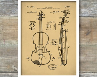 Viola Patent, Patent Print, Wall Decor, Music Poster, Music Art, Musical Instrument Patent, Violin Poster, Music Patent, P431