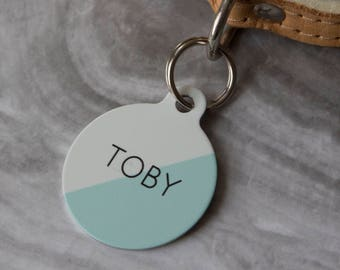 Personalised Two Toned Pet ID Tag  - Dog Name Identification