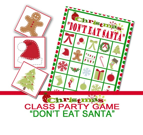 Group Games For Christmas Party: Christmas Party Game Don't Eat Santa Group Game Class