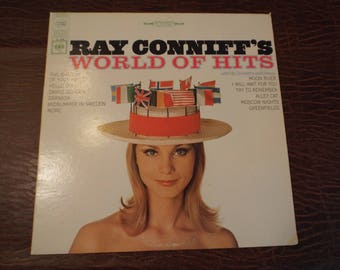 Ray Conniffs WOrld of Hits Album Vinyl 33 Gift under 10 USED Excellent Condition Vintage Record