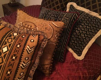 Authentic Mud Cloth Pillows
