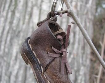 LEDEREN schoen voor gelukkige reis goede geluk schoenmaker Gift schoenen sleutel geval aanwezig tas accessoire sleutel accessoire Little schoen Mini schoen miniatuur