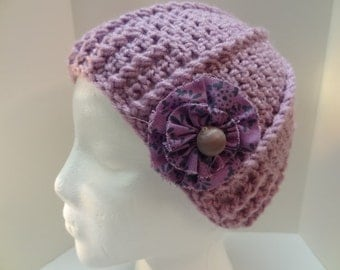 Hand Crochet Beanie with Removable Decoration