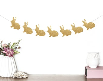 Bunny Banner, Bunny Birthday, Bunny Party Decorations, Rabbit Banner, Bunny Rabbit, Rabbit Garland, Bunny Garland, Some Bunny is One, First