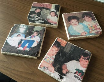 Personalized Mother's Day Throwback Custom Coaster Sets