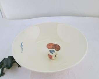 Cavitt Shaw NPP Initialed Ivory White Berry Bowl W S George Monogram Bowl Monkey Dish Side Dish Monkey Bowl Diner Bowl Ring Dish NPP bowl