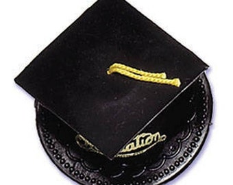 Black Graduation Cap Hat Cake Kit Toppers Decorations Party Favors