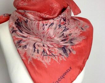 Jacqmar Vintage Silk Square Scarf