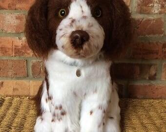 Custom dog sculpture, pet replica, pet memorial, animal bereavement, dog lover