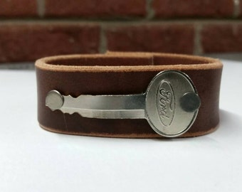Bracelet with Ford Key- Handmade.