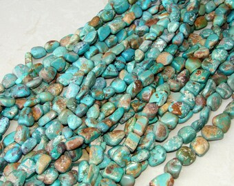 Genuine Natural Turquoise Nuggets. - Turquoise Beads - Real Turquoise - Turquoise Stones.  15 - 20mm - 16 inch Strand - NT204