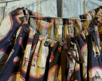 unique antique clown pants costume pierrot harelquin