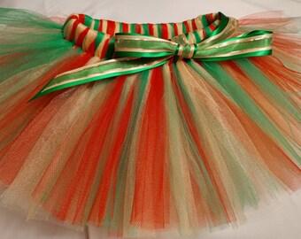 Christmas Tutu, Red Green Yellow Gold Tutu, Red Green Gold tutu, infant tutu, baby tutu, newborn tutu, toddler tutu, preemie tutu, holiday
