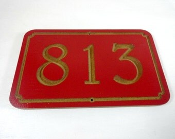 Street Number Sign - House Warming Gift - Address Plaques - Outdoor Address Sign - New Home Gift - House Markers - Carved Sign - Wall Decor