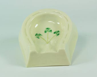 Belleek Shamrock Porcelain, Belleek Ashtray,Belleek Shamrock Ashtray,Belleek Porcelain,Belleek Home Decor,Belleek Kitchen,Belleek Shamrock