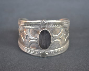 Sterling Silver Cuff Bracelet - Stars and Moons