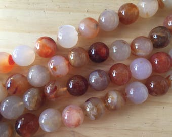 Round Red Agate, 20 mm, 16 inch strand