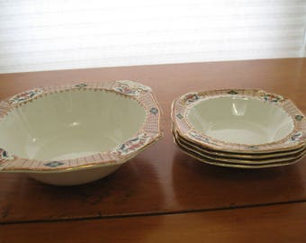Alfred Meakin Berry/Fruit Server and Bowls