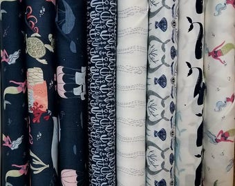 Fabric Bundle of Dear Stella Into the Reef - 8 Different Fabrics