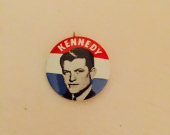 Vintage Kennedy Political Button Pinback Ted Kennedy Edward Kennedy Button