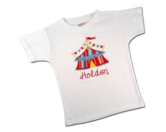 Boy's Circus Tent Shirt with Embroidered Name