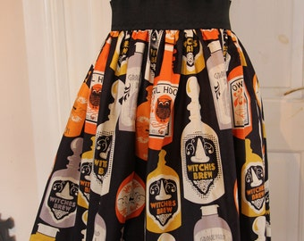 Witches Brew Halloween Elasticated Skirt