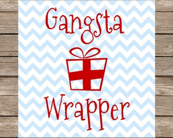 Gangsta Wrapper Christmas SVG Christmas Gift Wrapping Wrapper PNG Cut File for Cricut SVG Silhouette