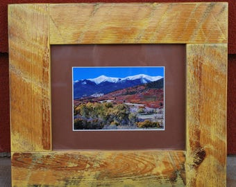 Photo Frame, Picture Frame, Frame, Reclaimed Wood Frame, Wood Frame, Artisan Frame