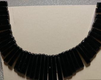 41 Pc. Black Stone Collar - Cleopatra Style Center piece (2044023A)