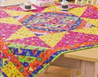 Handmade Quilt Birthday Table Topper or Blanket